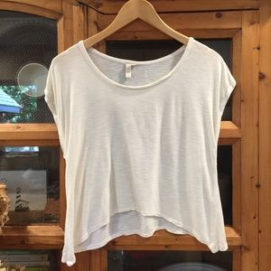 Cream Off White Ecru Soft Cropped Tee T Shirt M